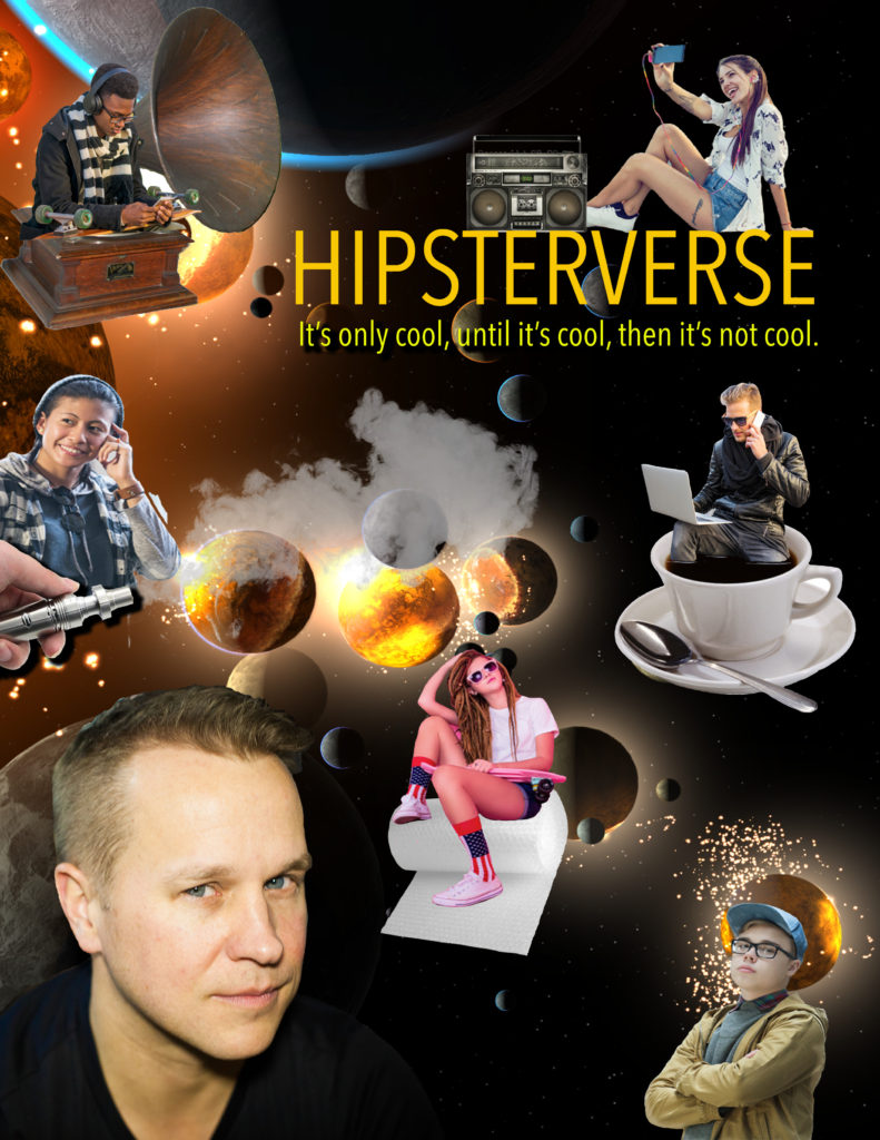 Michael Coleman Hipsterverse Film Poster for new newest movie