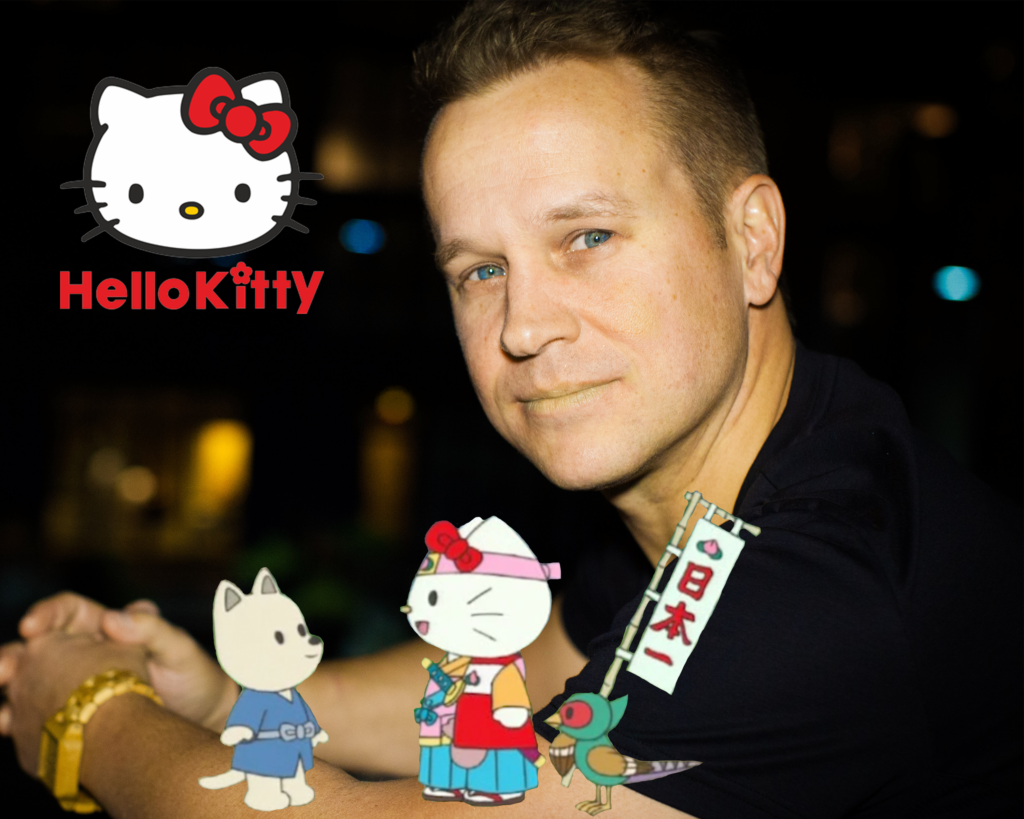 Hello Kitty Picture with Michael Coleman
